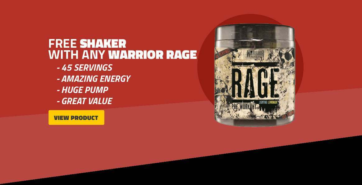 Warrior Rage plus Free Shaker