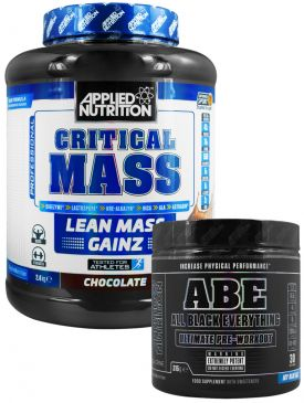 Applied Nutrition ABE Pre Workout / Critical Mass Stack