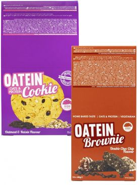 Oatein Cookies (12x75g) + Oatein Brownies (12x60g)