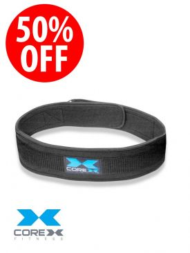 50% OFF - CoreX Fitness - Neoprene Weightlifting Belt - 4 inch - X-Large