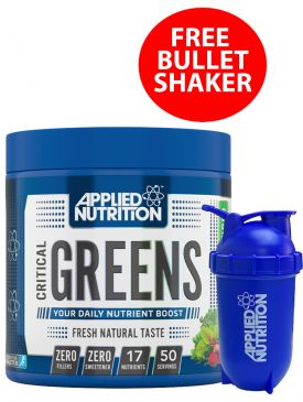 Applied Nutrition Critical Greens (250g) + FREE Bullet Shaker