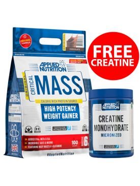 Applied Nutrition Critical Mass High Potency Weight Gainer (6kg) + FREE Creatine Monohydrate (500g)