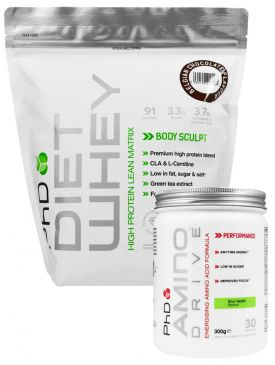 PhD Diet Whey 1kg + Amino Drive Stack