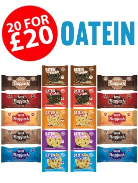 Oatein - 10 by 10 Taster Box - 10 Flapjacks & 10 Cookies