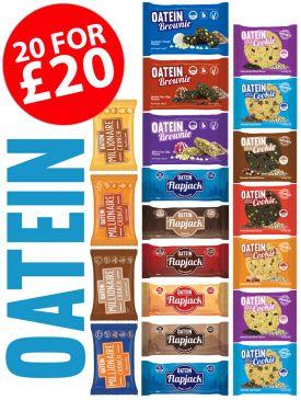 Oatein Taster Box - 6 Flapjacks, 7 Cookies, 3 Brownies, 4 Millionaire Crunch