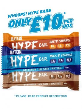 CLEARANCE - Oatein Whoops! Hype Bars (12x60g)