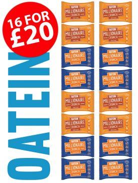 Oatein Millionaire Crunch 16 Bar Taster Box - Vegan