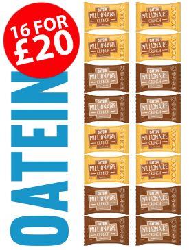 Oatein Millionaire Crunch 16 Bar Taster Box - Vegetarian