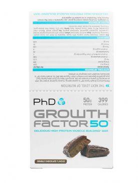 PhD Nutrition Growth Factor 50 Bars (12x100g)