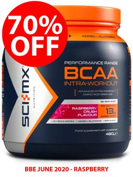 70% OFF - Sci-MX BCAA Intra Workout (480g) - Raspberry - BBE 06/20