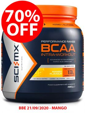 70% OFF - Sci-MX BCAA Intra Workout (480g) - Mango - BBE 21/09/2020