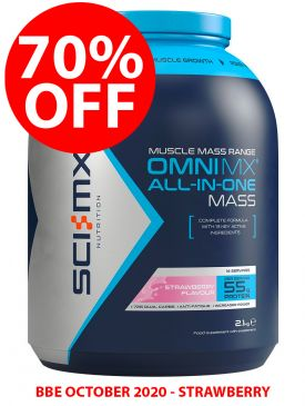 CLEARANCE - 70% OFF - Sci-MX Omni MX All-In-One Mass (2.1kg) - Strawberry - BBE 10/20