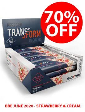 70% OFF - Sci-MX Protein Bar (12x60g) - Strawberry & Cream - BBE June 2020
