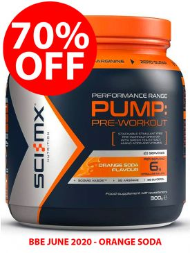70% OFF - Sci-MX Pump Pre-Workout (300g) - Orange - BBE 06/20
