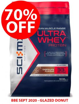 CLEARANCE - 70% OFF - Sci-MX Ultra Whey Protein (908g) - Glazed Donut