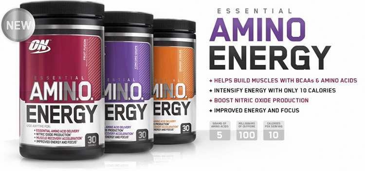 Optimum Nutrition Amino Energy Header 3 Flavours