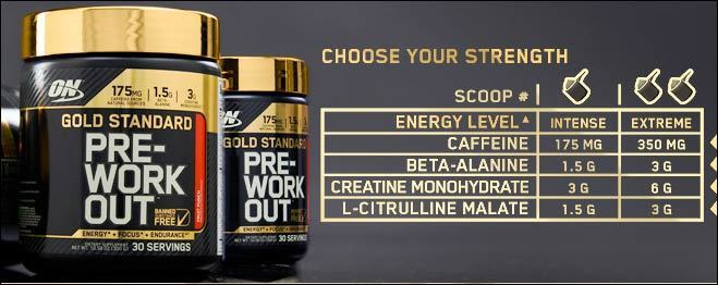 Optimum Nutrition Gold Standard Pre Workout Header