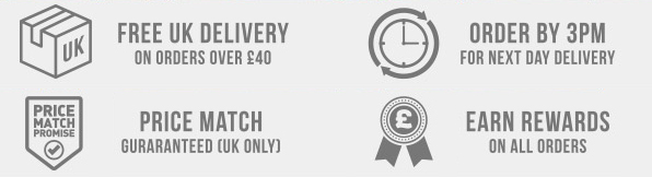 Free delivery over £40 - Order by 3pm for next day delivery - Price Match Guaranteed - Rewards